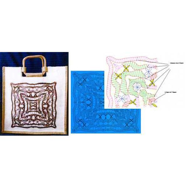 Klöppelbriefe für Tasche