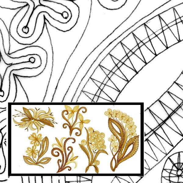 Pattern Flower Bouquets