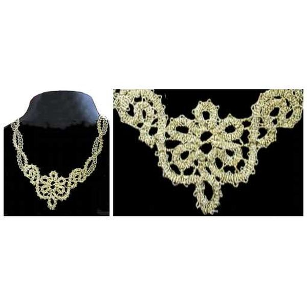 Pattern Necklace & Earrings