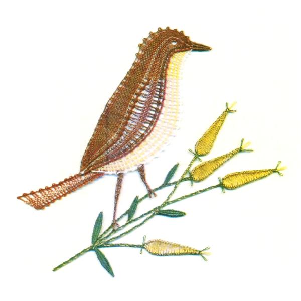Klöppelbrief Grauschnäpper
