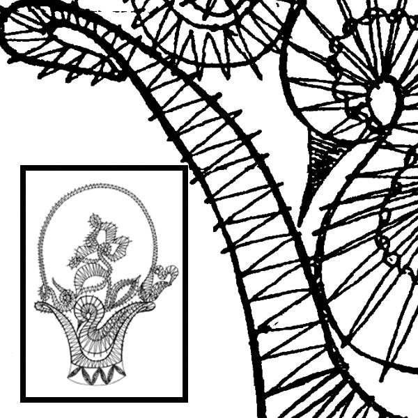 Pattern Flower Basket