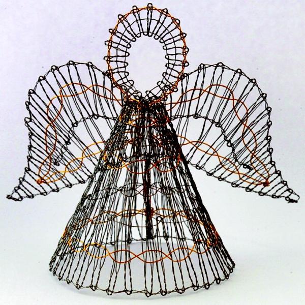kl ppelshop kl ppelbrief 3d engel aus draht. Black Bedroom Furniture Sets. Home Design Ideas