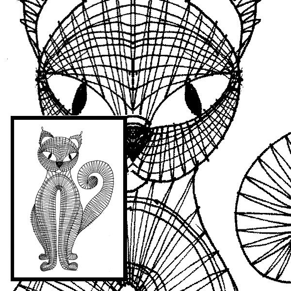 Klöppelbrief Katze 2