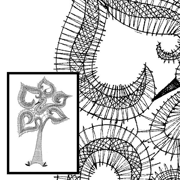 Pattern Bird & Flower Fantasys 3