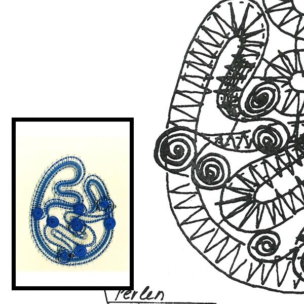 Klöppelbrief Gimpe-Ei B