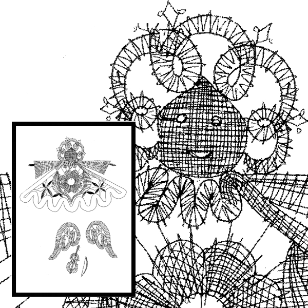 Pattern Angel with Violine