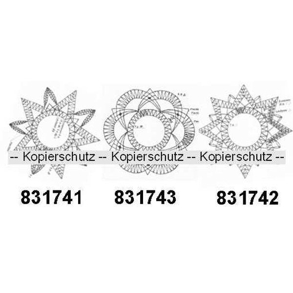"""Klöppelbriefe """"Sterne"""" für Ufo, klein"""