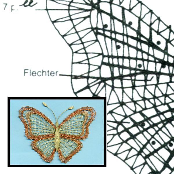 Klöppelbrief Schmetterling