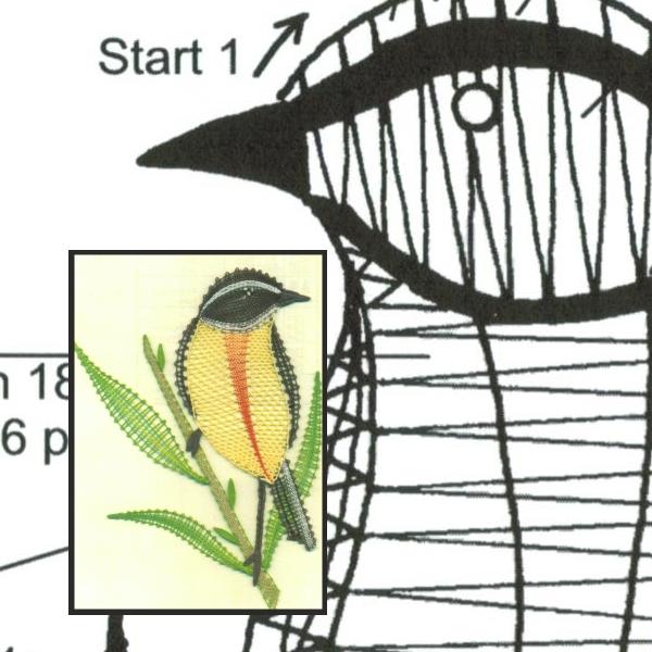 Klöppelbrief Braunkehlchen 2