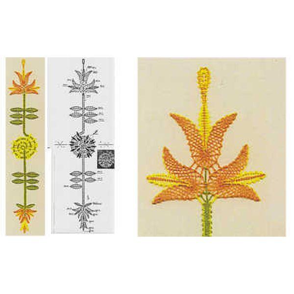 Klöppelbrief Blumenmuster
