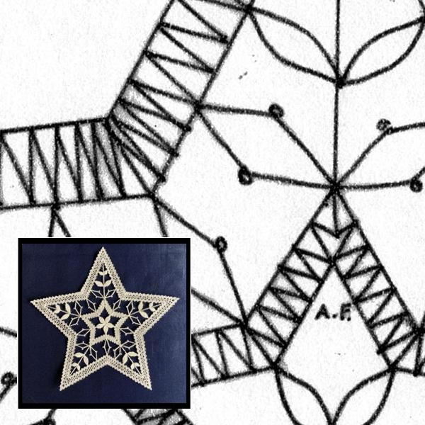 Klöppelbrief Stern 5-zack