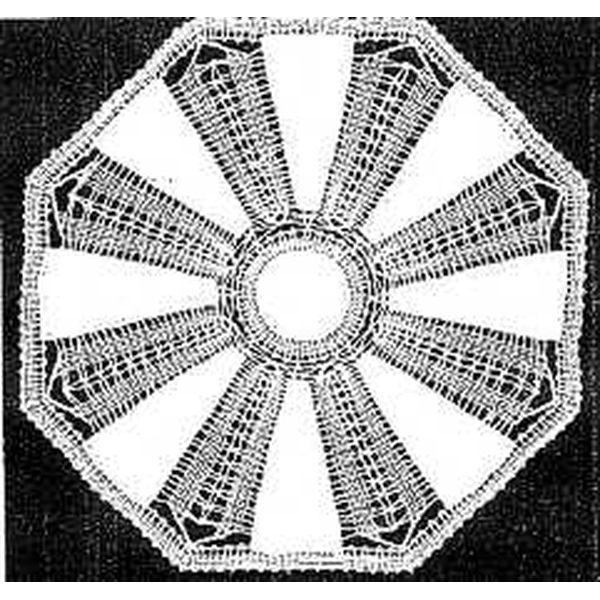 Klöppelbrief Decke rund  30 cm