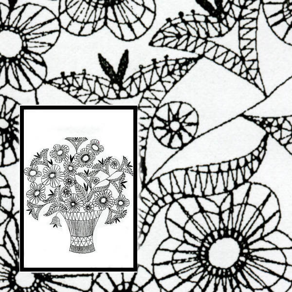 Klöppelbrief Blumenstrauß