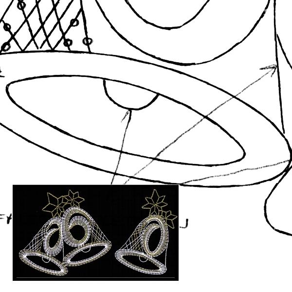 Klöppelbrief - Glocken