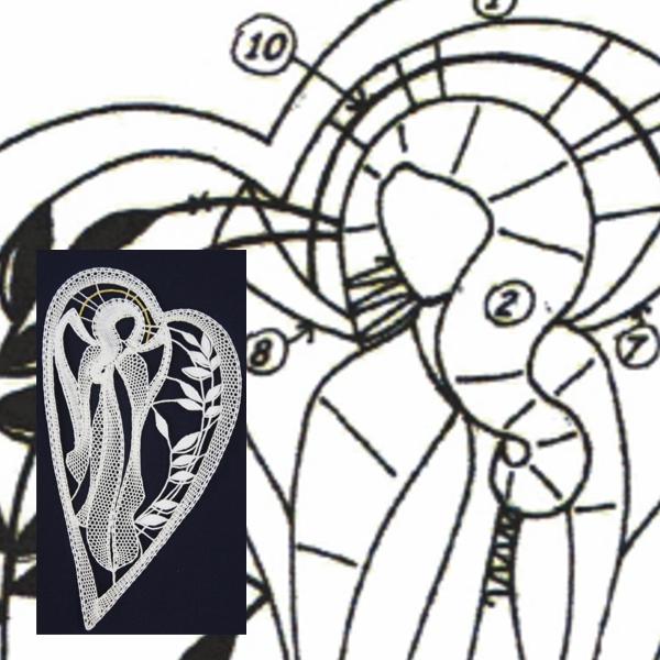 Pattern Angel in heart
