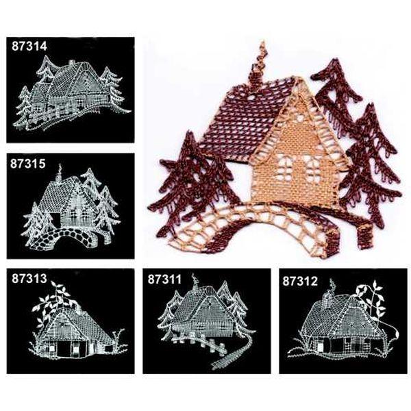 Klöppelbriefe Häuser
