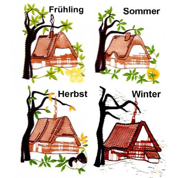 Pattern Houses Seasons
