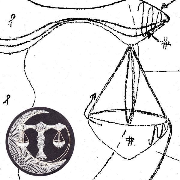 Klöppelbrief Waage (Ø: 12 cm)