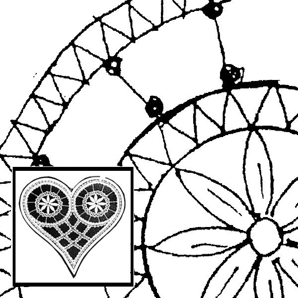 Klöppelbrief Herz (Gr. 4)