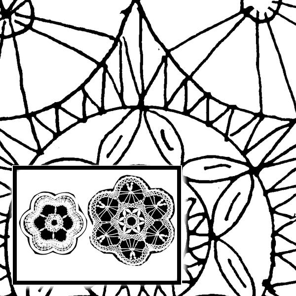 Klöppelbrief Blumenmotiv (Gr. 1 & 2)