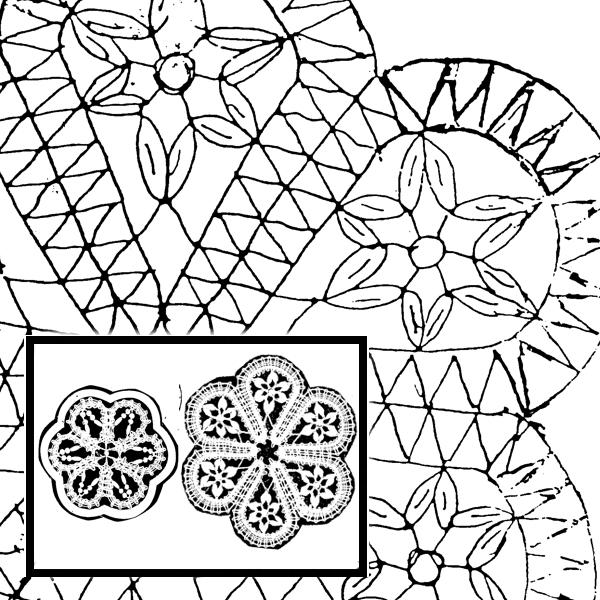 Pattern Flower Motive (Size 1 & 2)