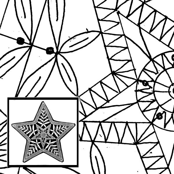 Pattern Star, 5-pointed