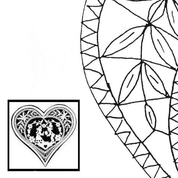 Pattern Heart (Size 3)