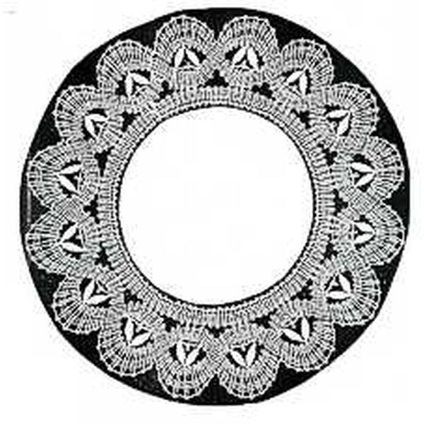Klöppelbrief Decke rund