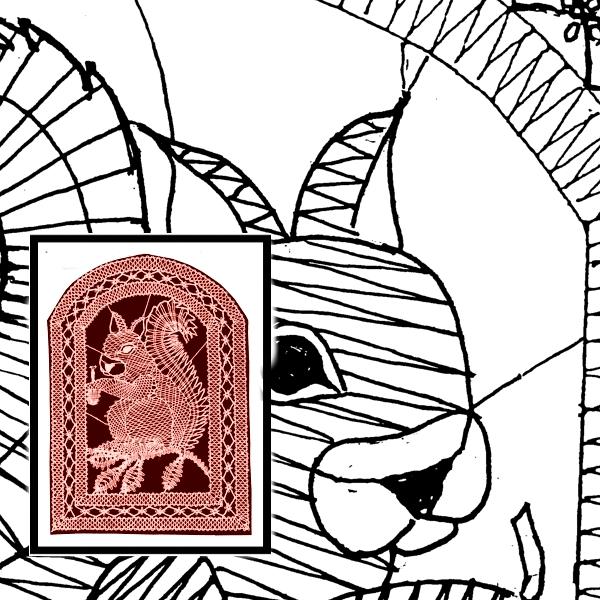 Klöppelbrief Eichhörnchen (Gr. 6)