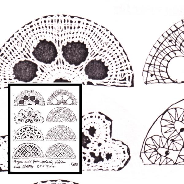 Klöppelbrief Mini-Schwibbogen