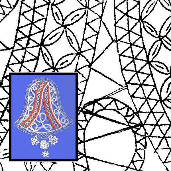 Klöppelbrief Glocke (Gr. 5)