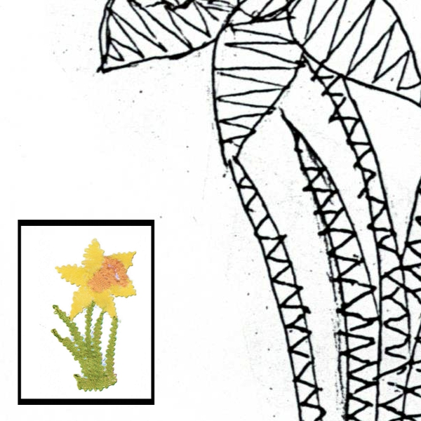 Pattern daffodil