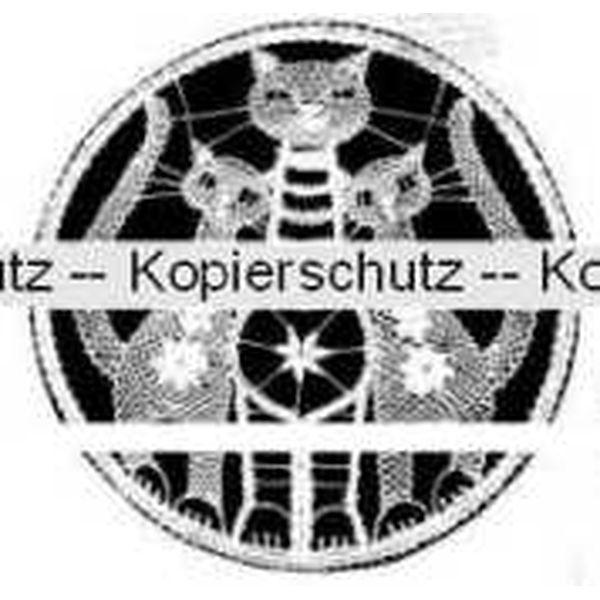 Klöppelbrief Katzen im Ring  (Ø: 19 cm)