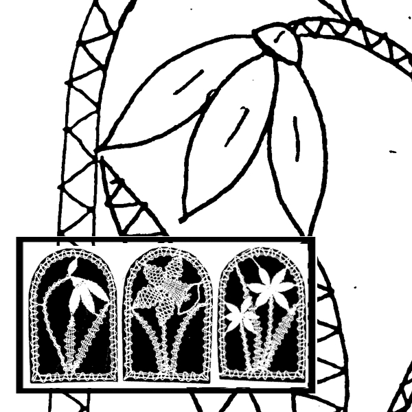Klöppelbrief Frühlingsblüher (Gr. 1)