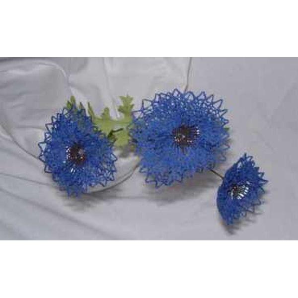 Klöppelbrief - Geklöppelte Blumen - Kornblume