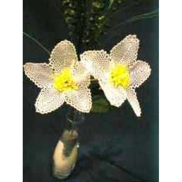 Klöppelbrief - Geklöppelte Blumen - Christrose