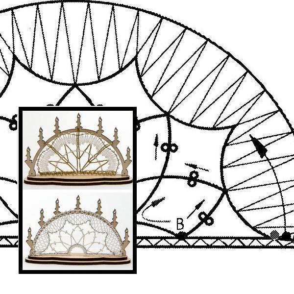 Klöppelbrief Schwibbogen