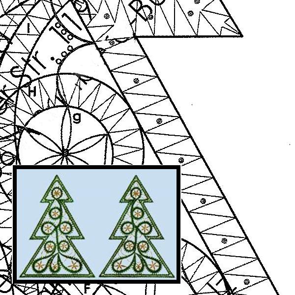 Pattern large fir tree