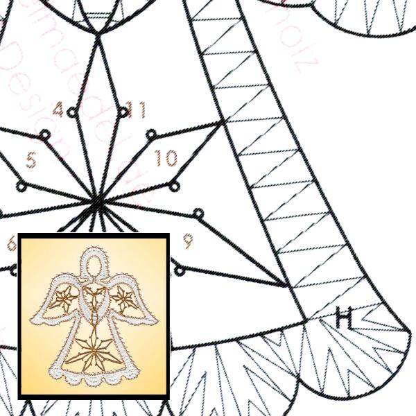 Klöppelbrief Kleiner Engel