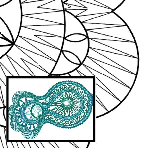 Klöppelbrief Mondfisch