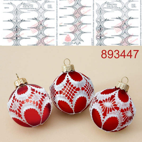 Pattern for chrstmas balls decoration