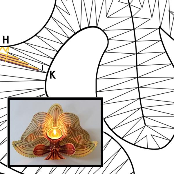 Klöppelbrief Phalenopsis
