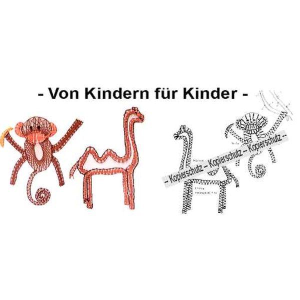 Klöppelbrief Affe & Kamel