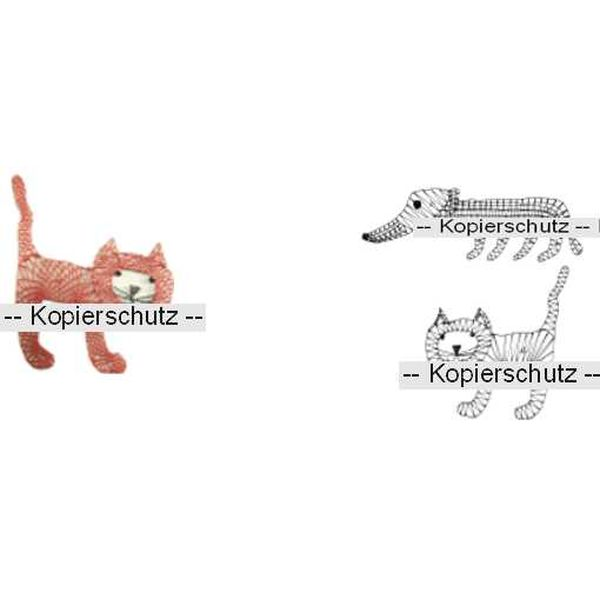 Klöppelbrief Hund & Katze