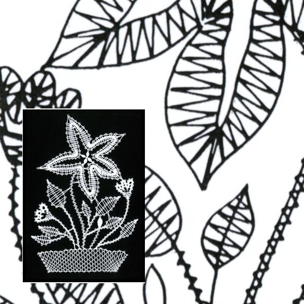 Klöppelbrief Blume