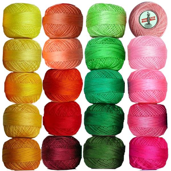 Venus Baumwollgarn - 5er Farbsortimente
