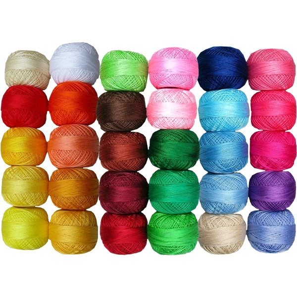 Venus Crochet Cotton Yarn - 50-part Color-Range