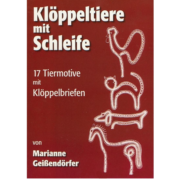 Klöppeltiere mit Schleife (bobbin animals with bow)