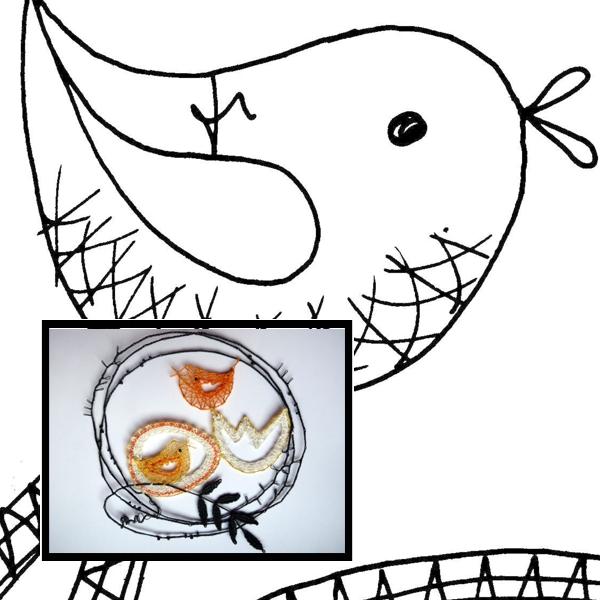 Klöppelbrief Kükenschlupf