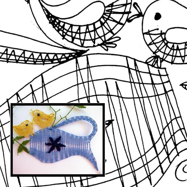 Klöppelbrief Wasserkrug